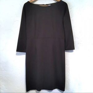 Old Navy Dress Black Longsleeve PM knee length